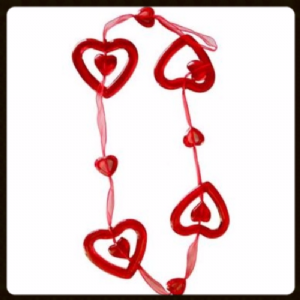 ACRYLIC RED HEART STRING